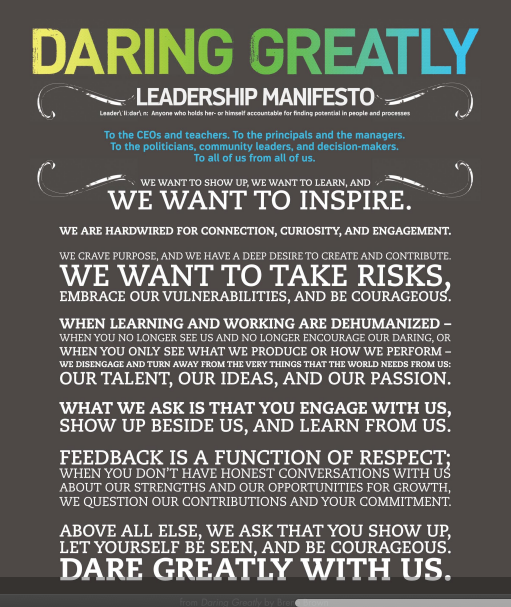 DaringGreatly LeadershipManifesto 8x10