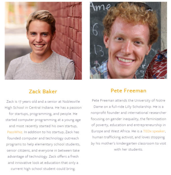 Zack and Pete profiles