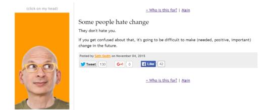 Seth Godin - change