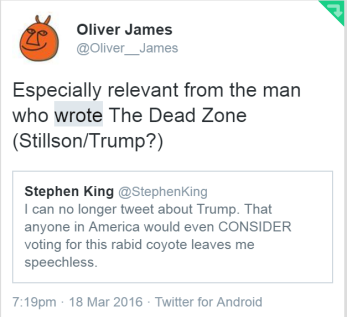 Stephen King tweet